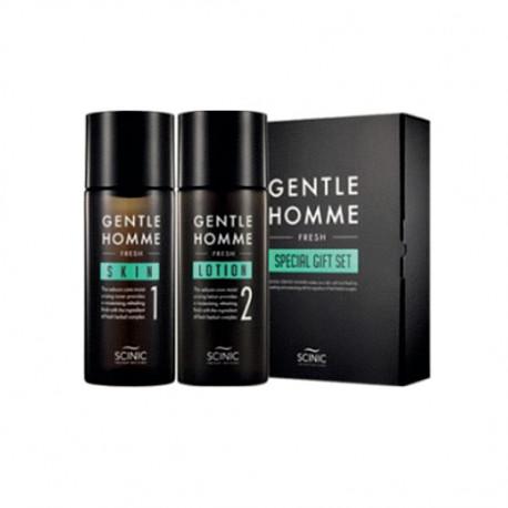 Scinic, Уходовый набор для мужчин (Тонер+Лосьон) Gentle Homme Fresh Special Gift