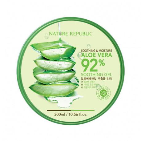 Многофункциональный увлажняющий гель для лица и тела Nature Republic Soothing & Moisture Aloe Vera 92% Soothing Gel