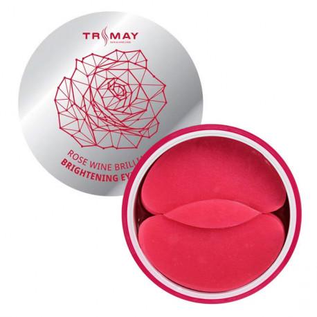 Осветляющие патчи для век с экстрактом розы и вина Trimay Rose Wine Brilliant Brightening Eye Patch