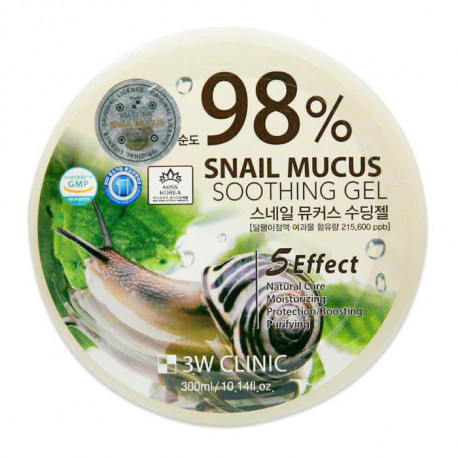3W Clinic 100% Snail Mucus Soothing Gel