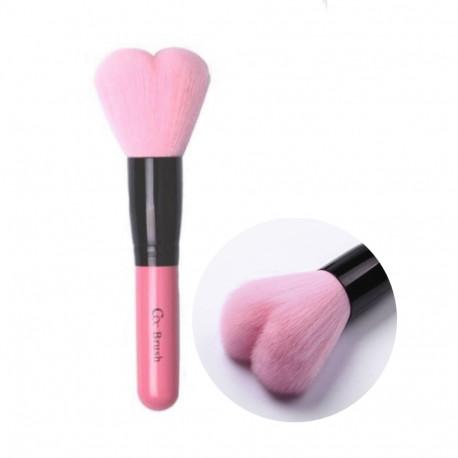 CORINGCO  Lovely Pink Heart Multi-Volume Brush