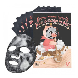 Elizavecca Black Solution Bubble Serum Mask Pack