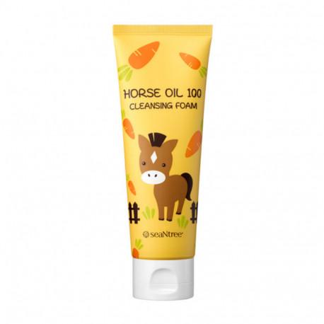 Seantree Horse Oil 100 Cleansing Foam