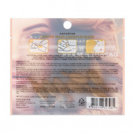 Kocostar Luster Hair Capsule Mask 7 Capsules