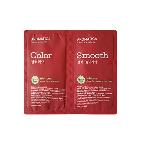 Aromatica Sample Hibiscus Color Care Shampoo+Mask