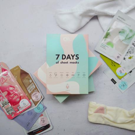 Фирменный набор тканевых масок 7 DAYS OF SHEET MASKS