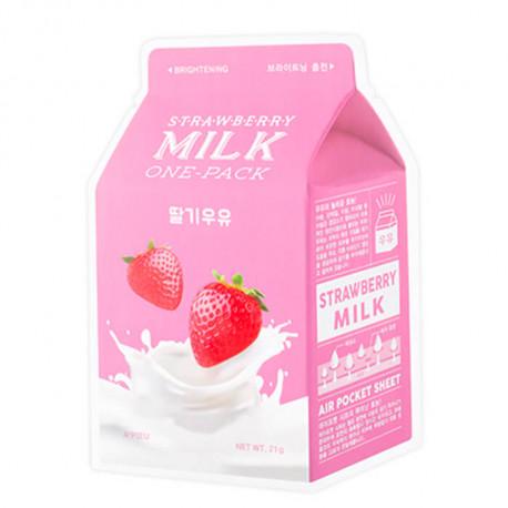 Молочная маска Apieu с клубникой. Заказывай на Oh Beautybar!