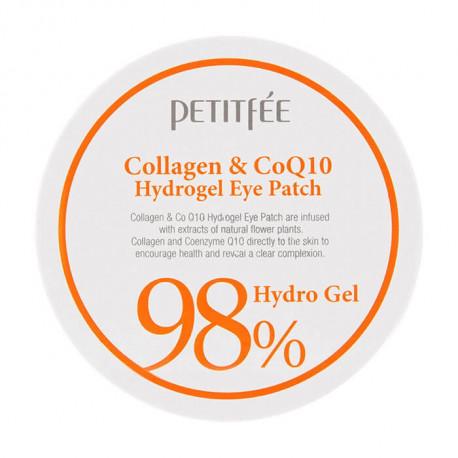Гидрогелевые патчи с коэнзимом PETITFEE COLLAGEN & Q10 HYDROGEL EYE PATCH
