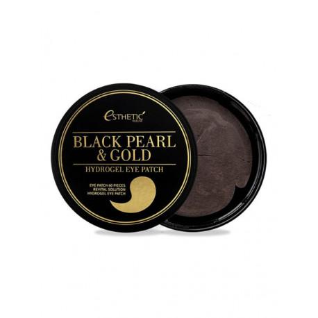 Гидрогедевые патчи от пигментных пятен Esthetic House Black Pearl Gold Hydrogel Eye Patch
