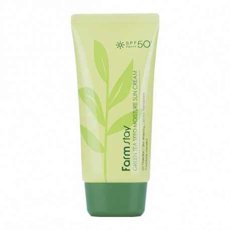 FARMSTAY Green Tea Seed Moisture Sun Cream SPF50+ PA+++