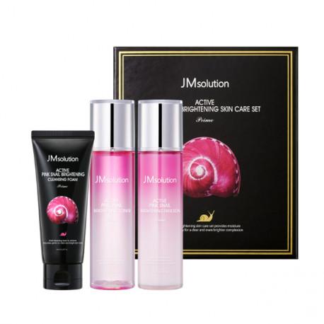 JM solution Active Pink Snail Brightening Skin Care Set-Prime