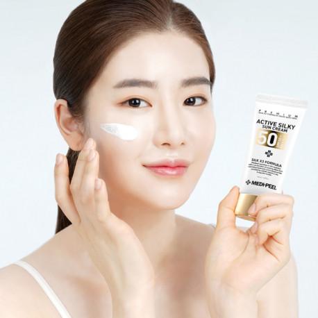 MEDI-PEEL Active Silky Sun Cream SPF50+PA+++