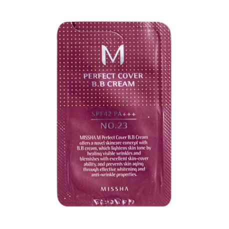Пробник Missha Perfect Cover BB Cream SPF42/PA+++ (23 тон) 1ml