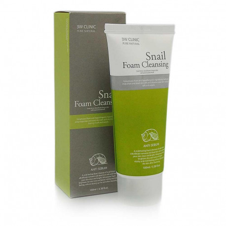 3W CLINIC Snail Cleansing Foam