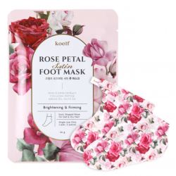 Koelf Rose Petal Satin Foot Mask