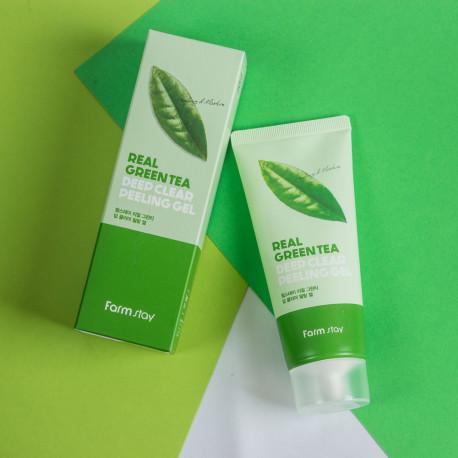 FarmStay Real Green Tea Deep Clear Peeling Gel