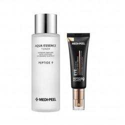 MEDI-PEEL PEPTIDE 9 Aqua Essence Toner & Peptide Balance9 Eye Hyaluronic Volumy Eye Cream SET