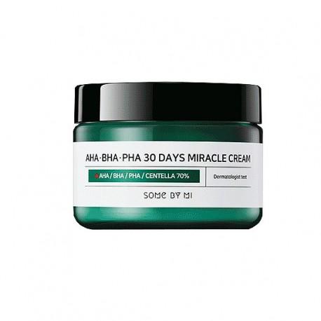 Some By Mi, Кислотный крем для проблемной кожи AHA-BHA-PHA 30 Days Miracle Cream